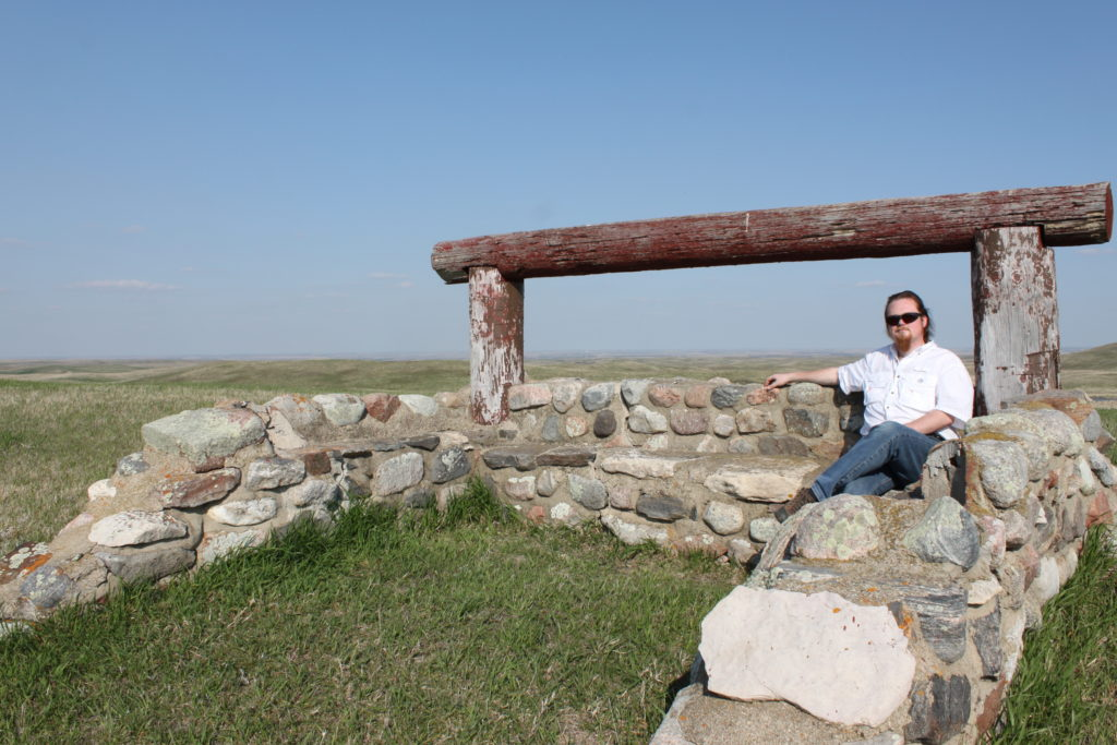 At the Whitestone Battlefield in North Dakota