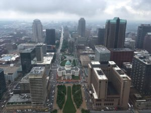 View of St. Louis from Gateway Arch
