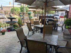 Palm Garden Cafe patio
